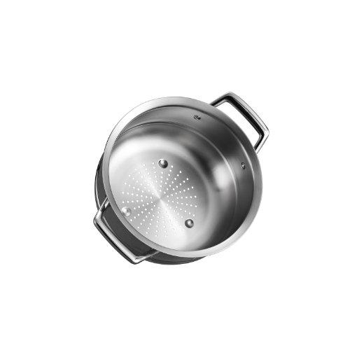 Tramontina 80101018DS Gourmet Prima Stainless Steel Steamer Insert 24cm - Fits 5 qt Dutch Oven 6 Qt Sauce Pot 8 Qt Stock Pot 10 inch Made in Brazil