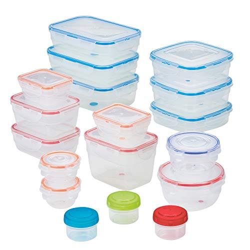 LOCK LOCK HPL321A18 Easy Essentials  Food Storage Container Set  Food Storage Bin Set - 36 Piece Clear