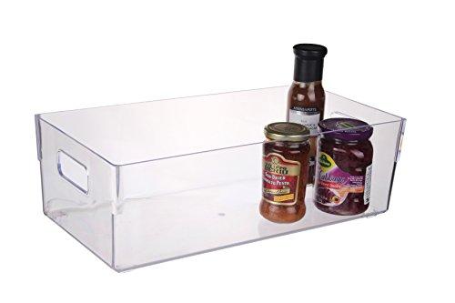 Scottys BPA Free Refrigerator and Pantry Storage Organizer Bin 16 x 8 x 5-Inch