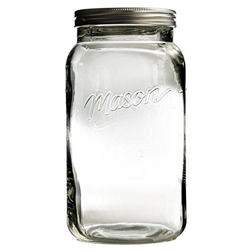 Grant Howard Jumbo Mason Embossed Glass Storage Jar 136 oz Clear