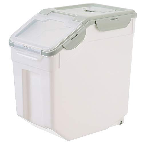 DishyKooker Large Sealed Moistureproof Cat Dog Food Storage Bucket Nordic Green S 20 kg