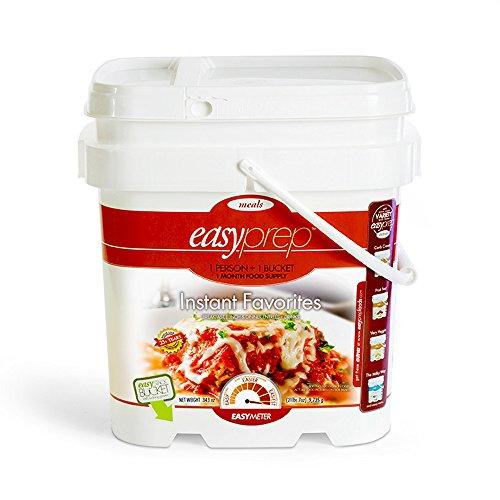 EasyPrep Instant Favorites 1-Month Emergency Food Storage Supply 1 Bucket 236 Total Servings 9 Different Entrees