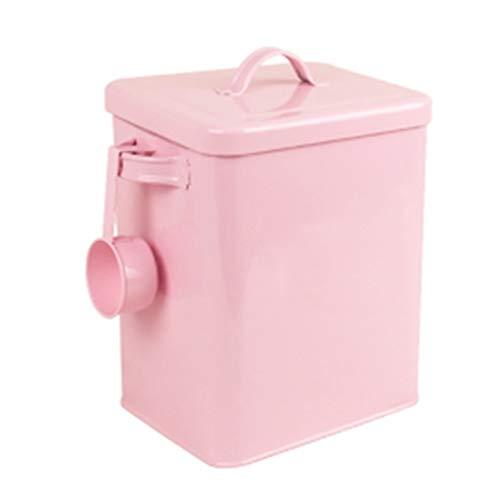 Storage Organization Household Moisture-proof Sealed Empty Bucket Rectangular Washing Powder Tin Bucket Kin Seal Strips Mildew Dog Food Cat Food Storage Bucket
