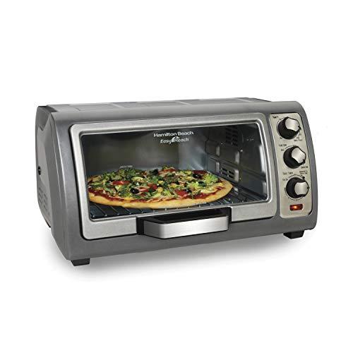 Hamilton Beach Countertop Toaster Oven Easy Reach With Roll-Top Door 6-Slice Convection 31123D Silver