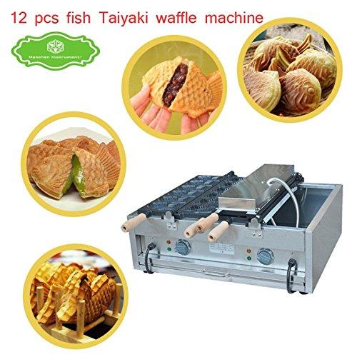 FY-1102A Commercial Use Big 2plates 6pcs Ice cream Taiyaki Fish Waffle Maker Machine Baker 110V