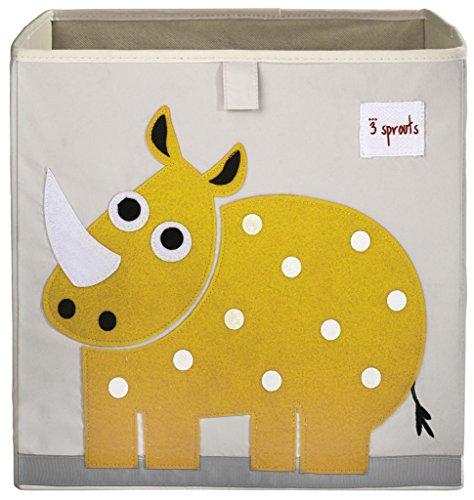 3 Sprouts Storage Box Rhino Yellow
