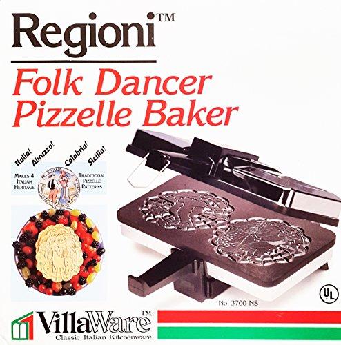 VillaWare Regioni Folk Dancer Pizzelle Baker