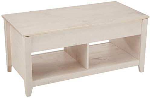 AmazonBasics Lift-Top Storage Coffee Table White