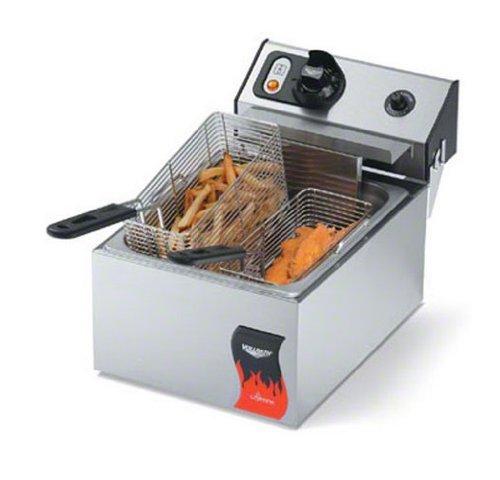 Vollrath 40705 10 Lb Standard-Duty 120V Electric Countertop Fryer - Cayenne Series