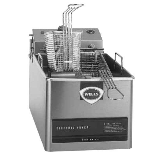 Wells LLF-14 Fryer countertop electric single fry pot 14 lb fat capacity