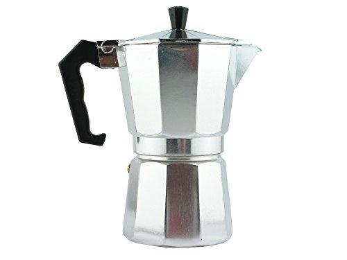 Aluminum Stovetop Italian Espresso Maker Moka Pot 6 Cup Capacity