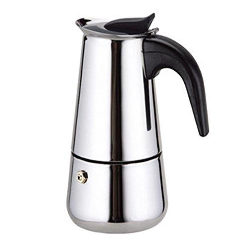 Coffee Maker - Stovetop Espresso Moka Coffee Maker Pot Latte PercolatorStainless Steel4 Cups200ML