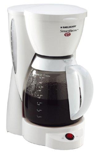 Black Decker DCM2000W SmartBrew 12-Cup Coffeemaker White