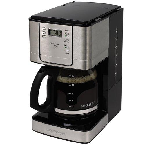 Mr Coffee JWX31 12-Cup Programmable Coffeemaker Stainless Steel