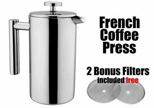MSRM 34oz  52oz1 Liter  15 Liter European Double Wall Stainless Steel Coffee Press Pot French Press 15L