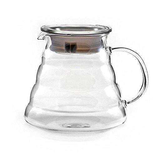 Dealglad Heat Resistant Glass Hand Drip Coffee Pot Coffee Server Kettle Coffee Maker Teapot 600ml