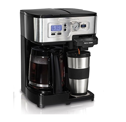 Hamilton Beach 2-Way FlexBrew Digital 1-12 Cup K-Cup Ready Coffee Maker Brewer