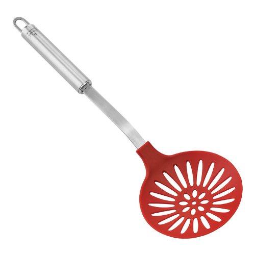 Kuhn Rikon Non-Stick Utensil Skimmer Spoon Red