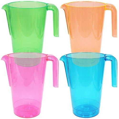 50oz Neon Plastic Pitchers 4 Assorted Colors