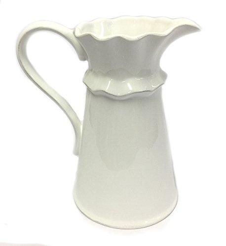 Creamy White Ceramic Pitcher