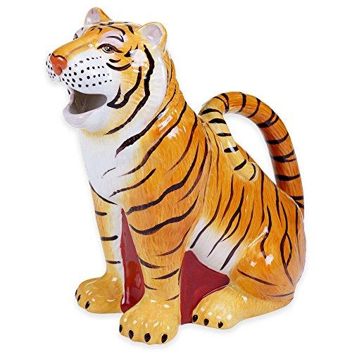 Imperial Bengal Tiger Figural 3D Ceramic Pitcher 11 L