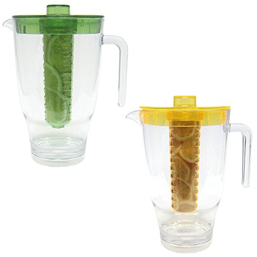 Fruits Infusion Flavor Pitcher with Fruit Tube 2 Liters Colors May Vary