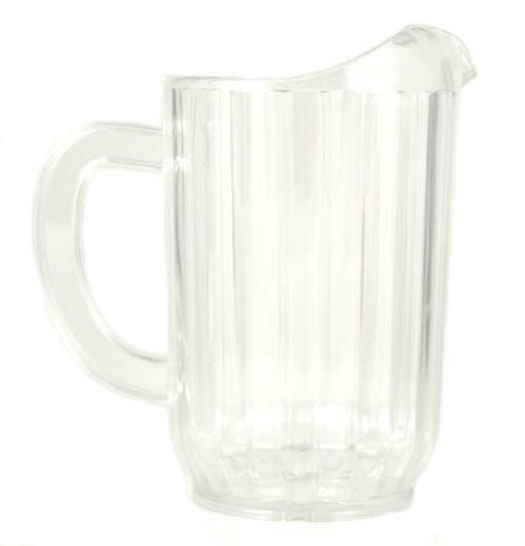 32 Oz Ounce Water Beverage Serving Pitchers Beer Pitcher Restaurant Grade Heavy-Duty SAN Material Plastic Pitcher - Clear by Update International