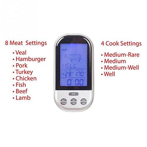 Food Thermometer Digital Probe termometro BBQ Temperature sensor Wireless Remote Control outdoor indoor Barbecue Timer -Pier 27