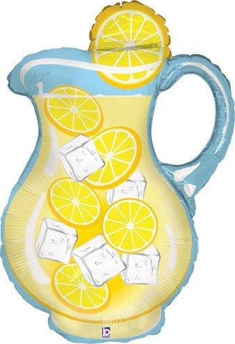 LoonBallon 33 Inch Lemonade Pitcher Balloon Medium Shape 5 Pieces