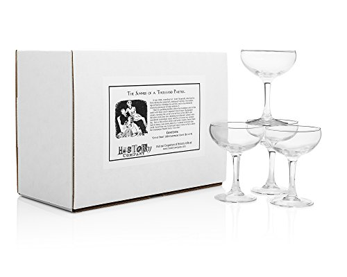 """city Of Paris"" 1924 Champagne Coupe (gift Box Set Of 4)"