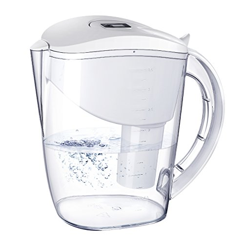 Water Pitcher with 1 Filter HoLife 10 Cup Alkaline Water Filter Pitcher BPA-Free with 1 Sri Lanka Activated Carbon Filter Cartridge Fast Filteration Tap Water Apply