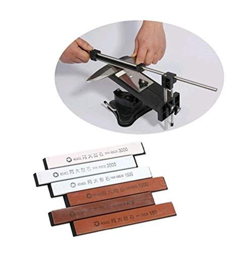 OKSLO EECOO 6pcs Professional Sharpening System Sharpening Stone Sharpener for Kitchen Knife