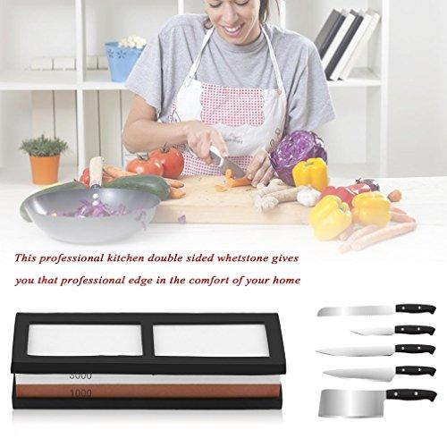 OKSLO Feel Kitchen Whetstone Knife Grit 10003000 Sharpener Professional Sharpening Water S