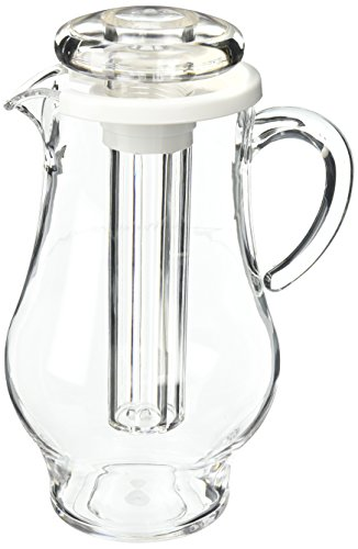 Service Ideas AWP24BS Acrylic Pitcher with Ice Tube 24 Liter 811 oz Clear