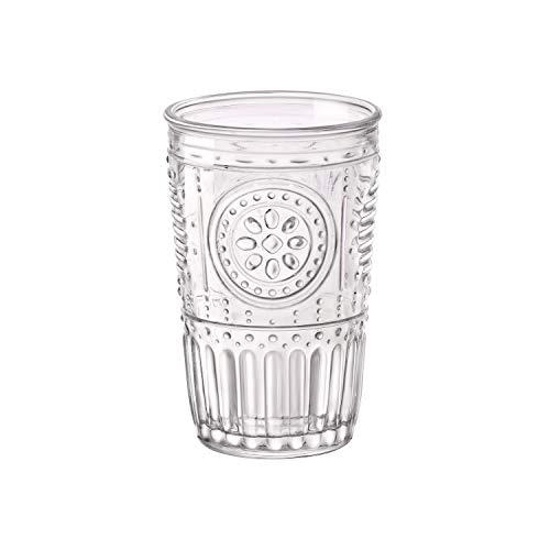 Bormioli Rocco Romantic Water Glass Set Of 4  1025 oz Premium Glass Set For Refreshments Soda Beverages  Italian Quality Glassware Perfect For Dinner Parties Bars Restaurants