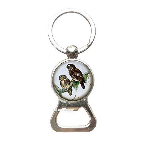 Owl Bottle Opener Keychainbird Bottle Opener Keychain jewelry giftcharm Key Ringeveryday Bottle Opener Keychainholidays giftTAP071
