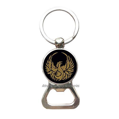 Phoenix Bottle Opener KeychainPhoenix Key Ring, Fantasy Bottle Opener Keychain,Firebird Phoenix bird Bottle Opener Keychain Fantasy bird Phoenix rising Phoenix wingsQK0O81