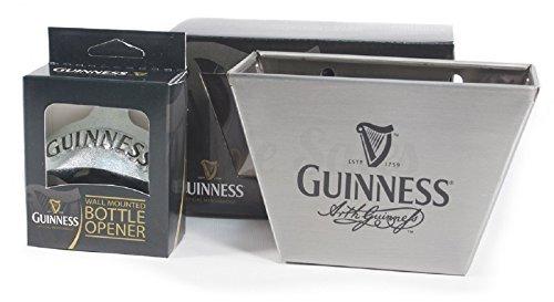 Guinness Barware Bundle - Cap Catcher Wall Mounted Bottle Opener