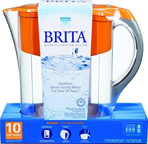 Brita Grand Water Filter Pitcher Orange 10 Cup