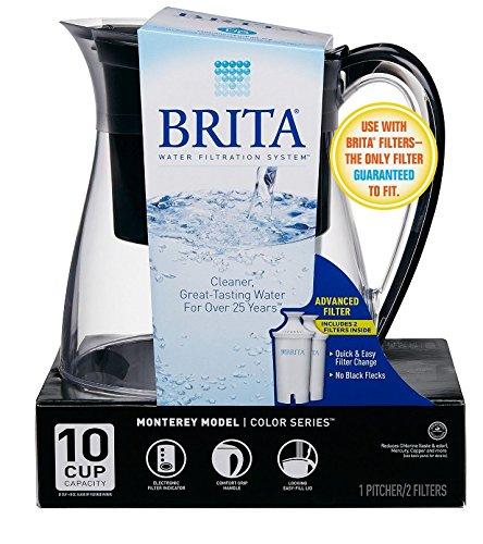 Brita Monterey Water Filter Pitcher 10 Cup-Black