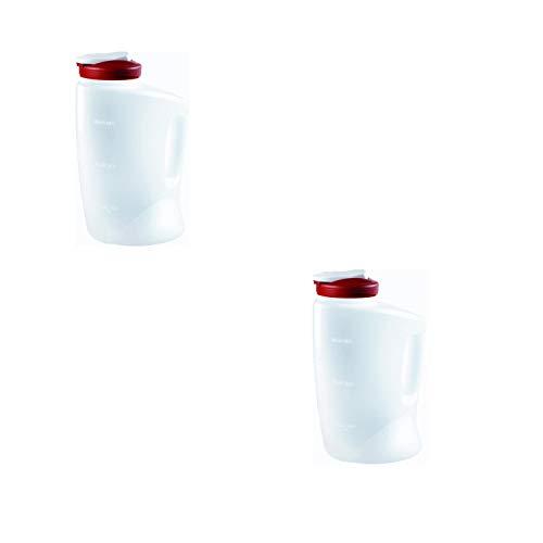 Rubbermaid COMINHKPR140279 Red 7E60 1-Gallon Pitcher 2-Pack 1 Gallon