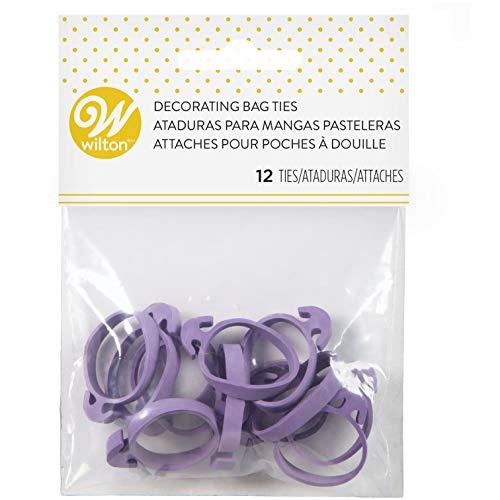Wilton Icing Bag Ties 12-Count - Rubber Icing Bag Ties