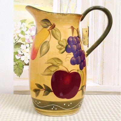 Tuscany Mixed Fruit Ceramic Water Pitcher