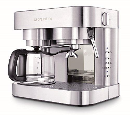 Espressione EM-1040 Stainless Steel Machine Espresso and Coffee Maker 15 L