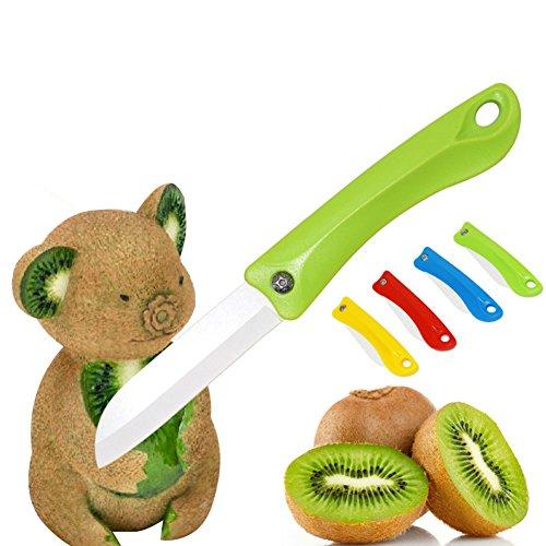 Aremazing Kitchen Cutlery Portable Ultra Sharp Ceramic Vegetable Fruit Folding Pocket Knife with ABS Handle Random
