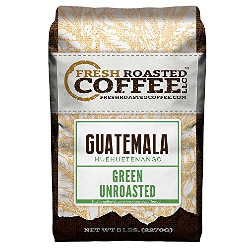 Fresh Roasted Coffee LLC Green Unroasted Guatemalan Huehuetenango Coffee Beans 5 Pound Bag
