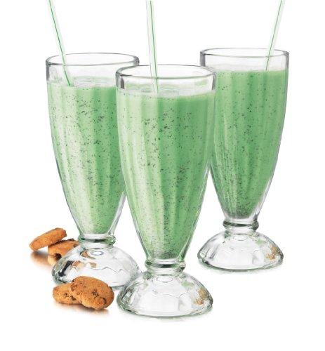 Libbey 6-piece Fountain Shoppe Classic Ice Cream Soda Glass, 12-ounce, Clear