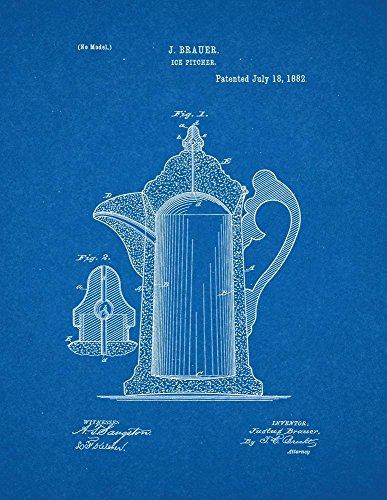 Ice Pitcher Patent Print Art Poster Blueprint 18 x 24