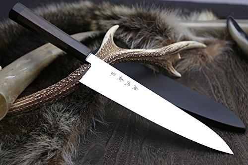 YOSHIHIRO Ice Hardened High Carbon Stainless Steel Wa Gyuto Japanese Chef Knife 825 210mm