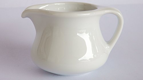 Set of 2 Amatahouse Elegant Mini Creamer Pitcher Royal Porcelain Classic White 14 oz 0217